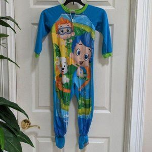 Nickel Bubble Guppies Boys Size 5T Footed PJ